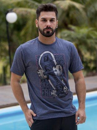 Camiseta Masculina Adulta Manga Curta Estampa Skate 20365 Fatal Surf